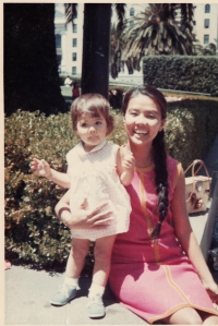 Me with my Mom in Union Square, SF. 1969.